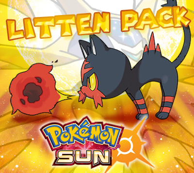 Litten Prime Pack for Pokemon Sun (EU)